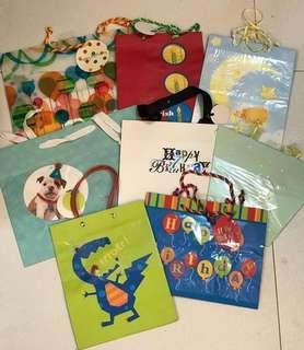 禮物袋 gift bags 8pcs (new)