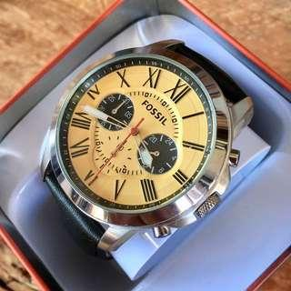 Fossil Grant Yellow Dial Chronograph Men's Watch