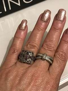 (2) USED ..Silver PLATED Rings