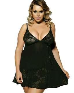 Ready Stock Plus Size Sexy Lingerie (XL/3XL/5XL) with G-String 80158-2