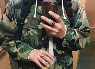 美軍公發 Jungle Farige 迷彩 襯衫外套 古著 XS ragular