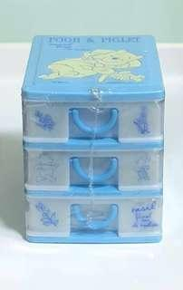 Disney Pooh and Piglet 3 Tier Stationery Drawers