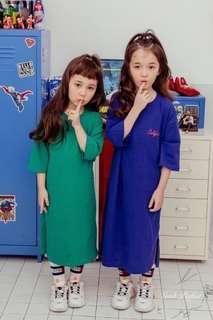 韓國🇰🇷女童中袖連身裙長Tee