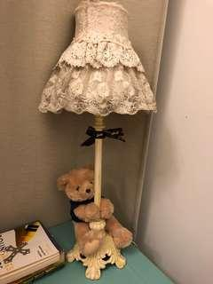 Lovely Lace side lamp