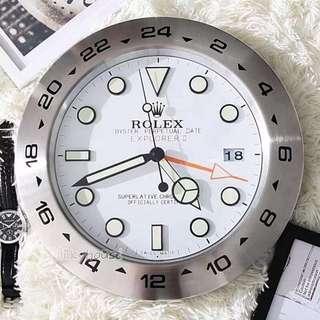🚚 Explorer II white/ Black dial wall clcok