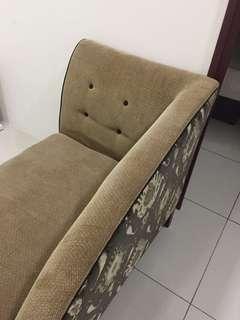 Reduce Velvet PreLove Bench Sofa