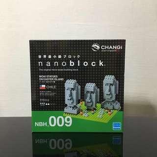 Nanoblock Maoi Statues on Easter Island
