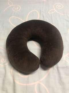 Brown neck pillow