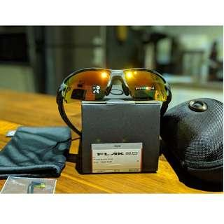 Oakley Flak Jacket 2.0 (Asia Fit) Sunglasses • PRIZM Ruby Lenses • Black Camo Frame OO9271-2761