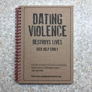 Stop Family Violence Single lined Notebook