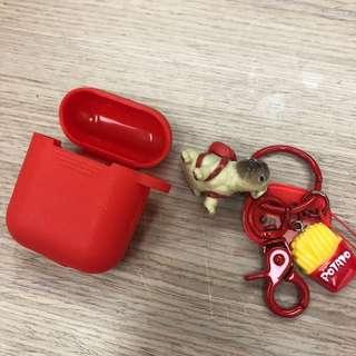 🚚 Airpods 保護套 紅色 巴哥 🐶