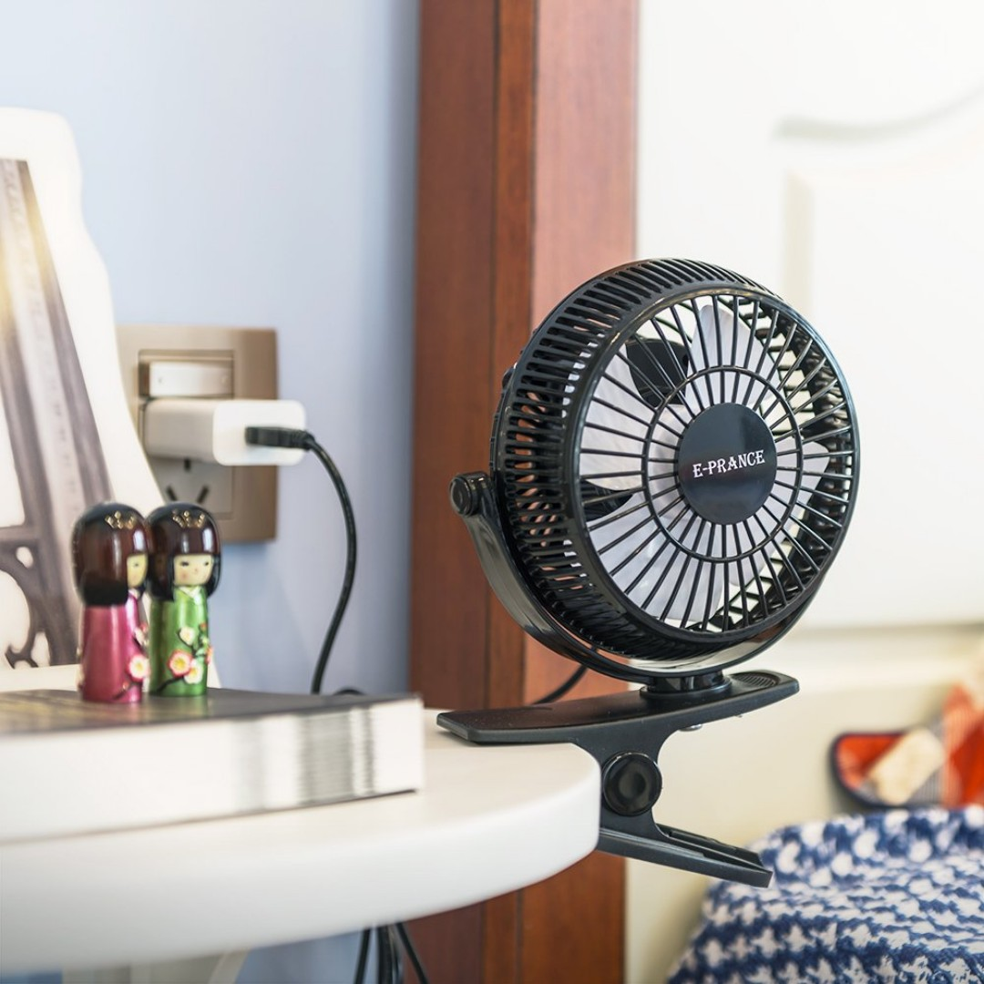 2298 E-PRANCE Mini Clip Desk Fan,5