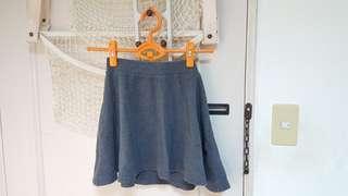 🚚 lativ 厚羅紋短裙(灰)
