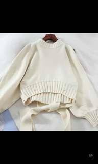 全新 冷衫 米白色
