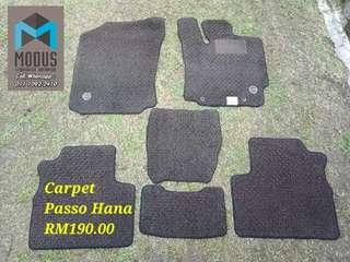 Carpet toyota passo hana for myvi