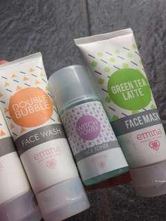 Emina Double BUbble,Emina Switch Power Toner,Emina Green Tea Mask