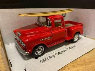 1955 CHEVY stepside pick up ( diecast metal )