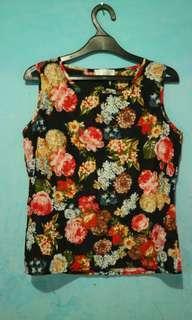 Atasan blouse wanita Bunga