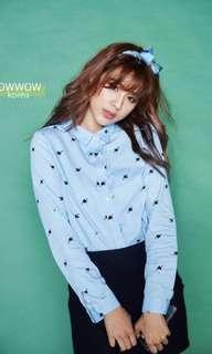 Bowwow Korea 藍色愛心襯衫