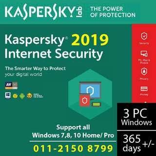 Kaspersky 2019 (3 users) Internet Security