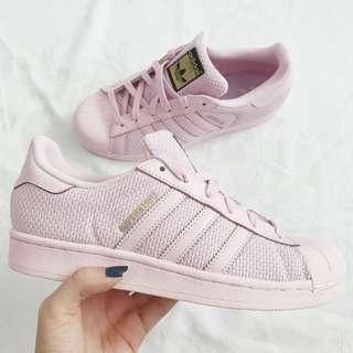 🚚 Adidas Superstar Blush Pink Knit