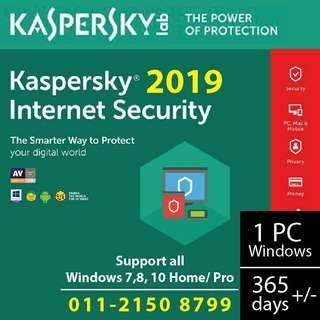 kaspersky internet security 2019 activation code 365
