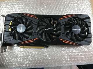 技嘉 GeForce GTX 1070 G1 Gaming 8GB 保固中無盒便宜賣!