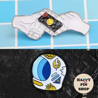 🚚 [AVAIL] *New* Space Enamel Pins!