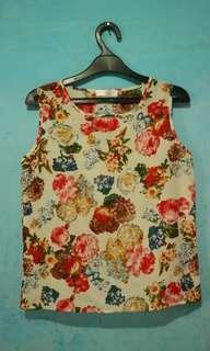 Atasan blouse Bunga