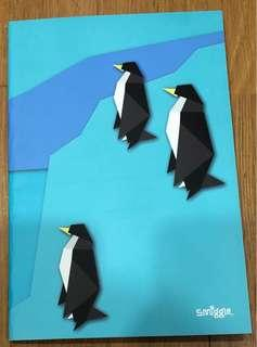 🚚 Smmigle black and white penguin blue notebook