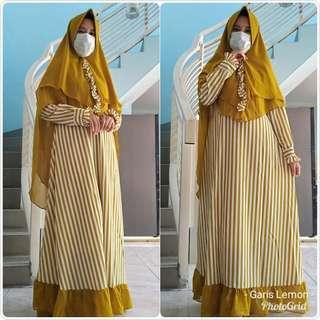 🚚 Jubah long dress and khimar set