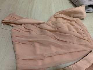 Love bonito off shoulder TOP and Peach Dress