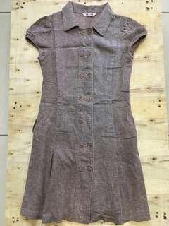 Brown work dress