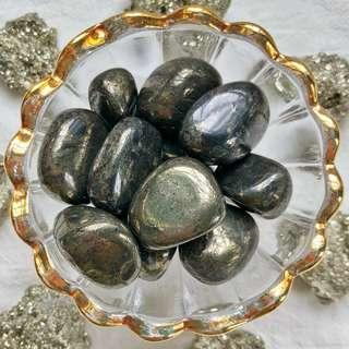 🚚 Iron Pyrite Tumbled Stones