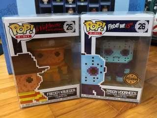 Funko Pops - Freddy Krueger and Jason Voorhees