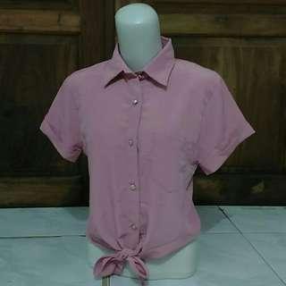 Bluse ikat pink