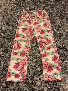 Celana panjang anak bunga
