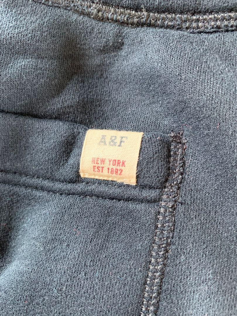 (90%New) Abercrombie & Fitch Navy Men Sweatpants 男裝A&F 深藍色褲