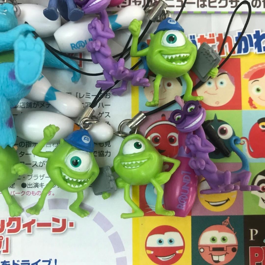 怪獸大學 鑰匙圈 吊飾 七隻 毛怪 大眼仔 藍道 萬事ok 保齡球瓶 pixar 皮克斯動畫