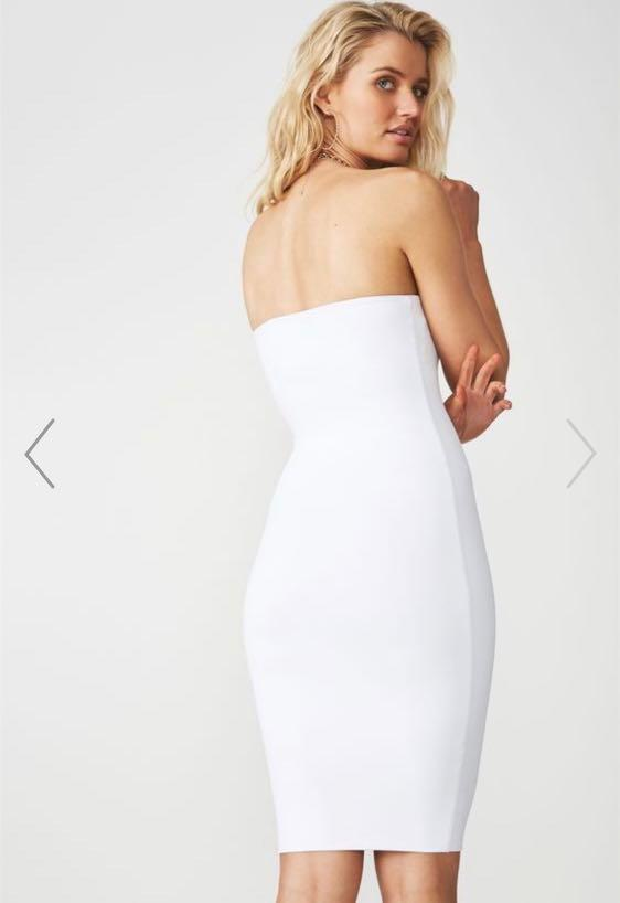 * BRAND NEW White Midi Dress