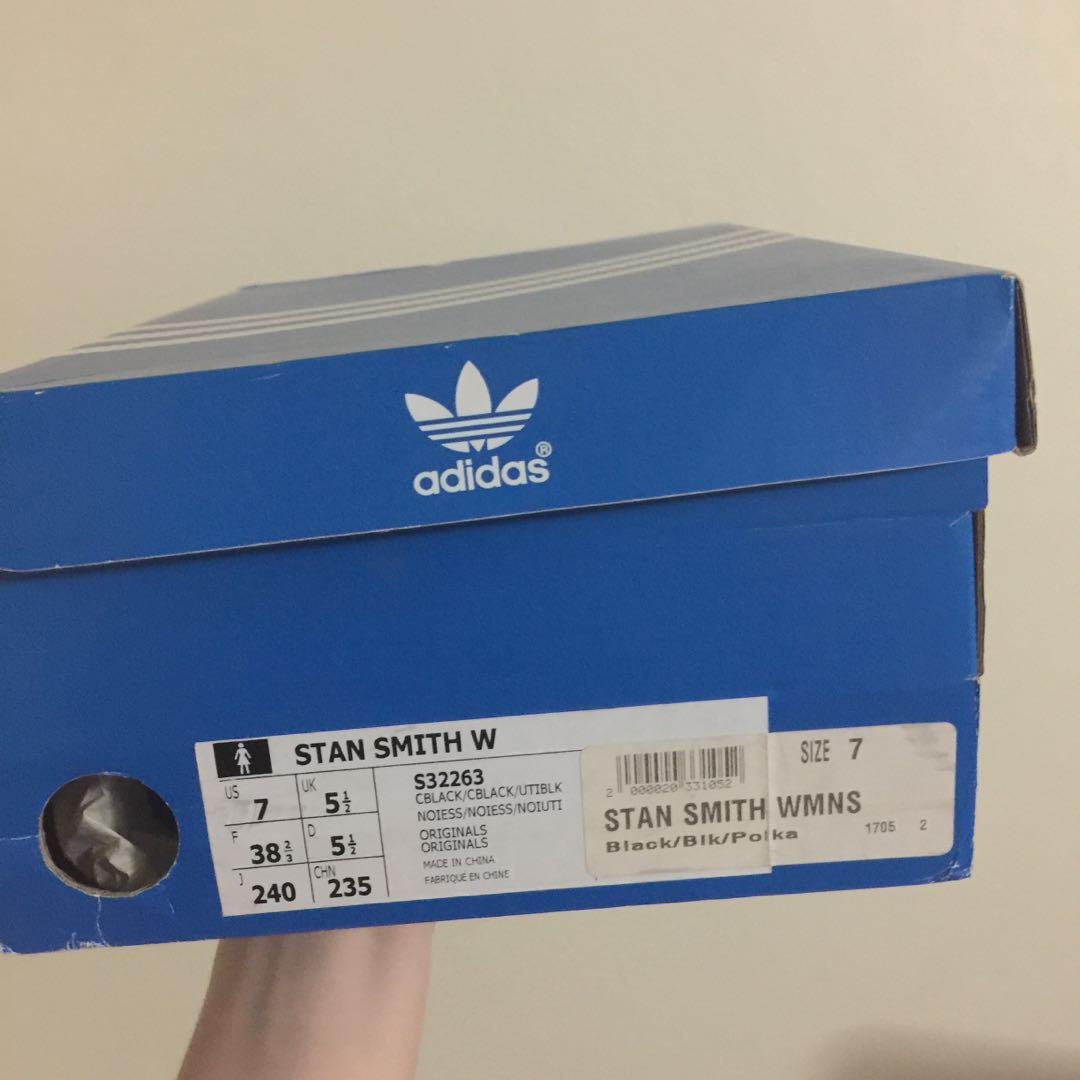 Adidas Stan Smith Black Polka Dots