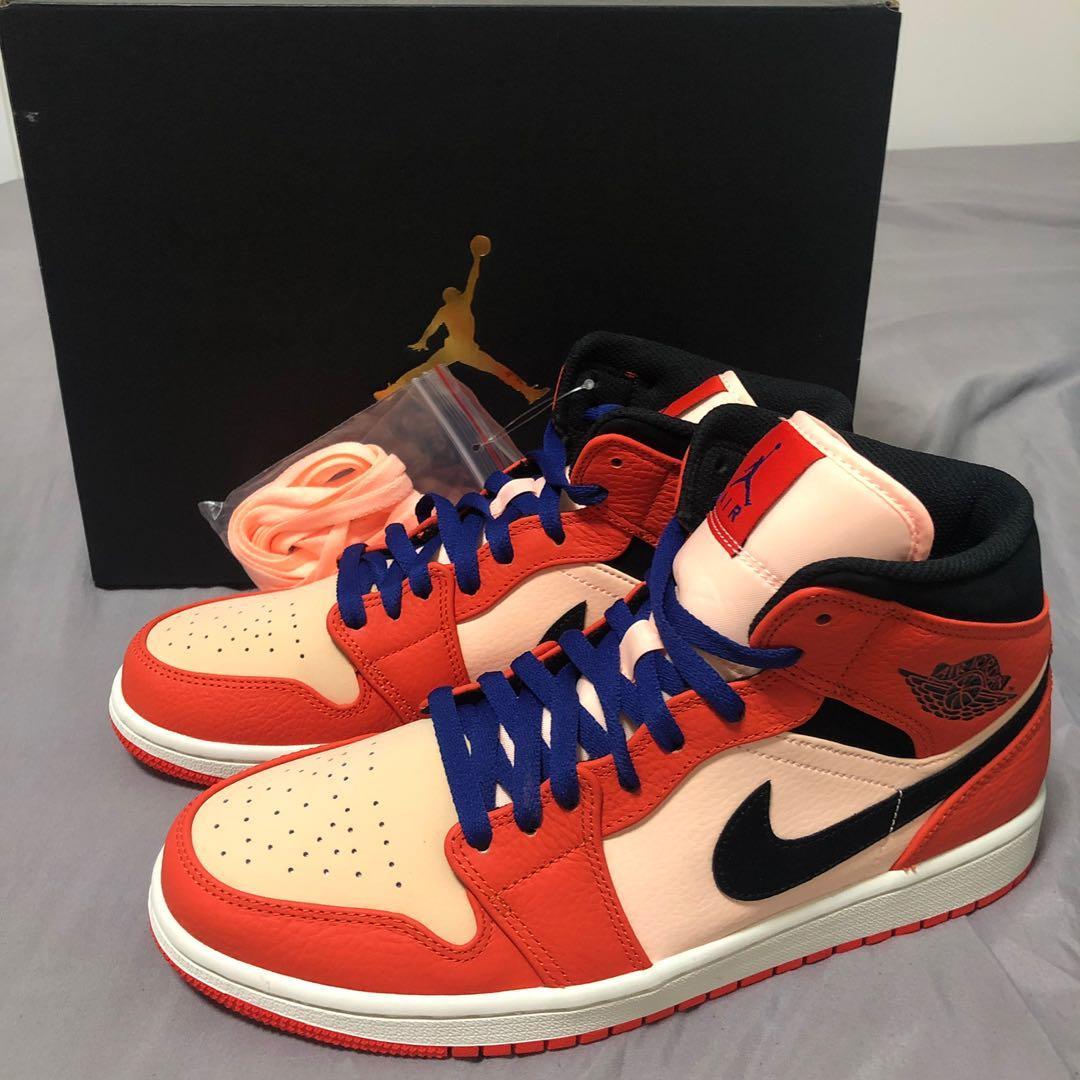 bas prix 0a727 f76e3 Air Jordan 1 Mid SE Team Orange, Men's Fashion, Footwear ...