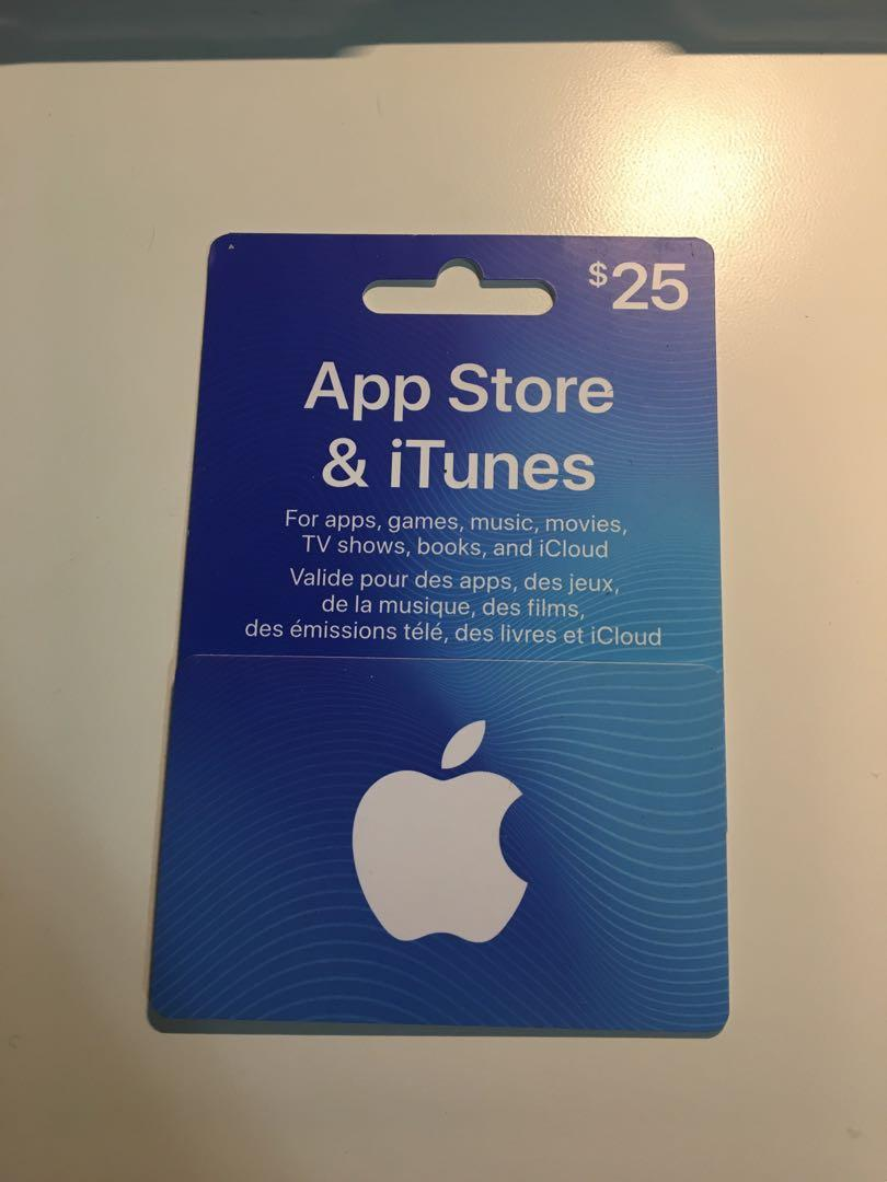app store & itunes $25 giftcard