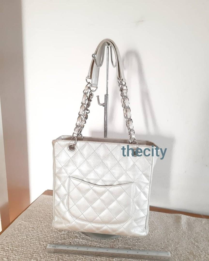 AUTHENTIC CHANEL PST , IN CAVIAR LEATHER - HOLOGRAM SERIAL STICKER INTACT, COMES WITH AUTHENTICITY CARD - OVERALL IN GOOD CONDITION & SHAPE STRUCTURE - (RETAILS AT AROUND RM 8900+) ,