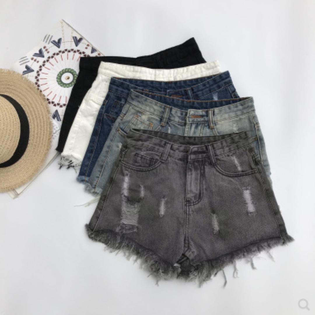 BN dark wash denim high waist shorts