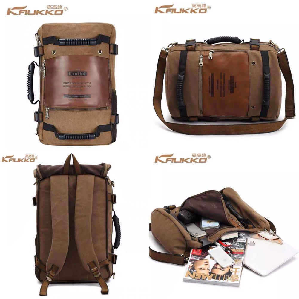 canvas backpack 2 styles