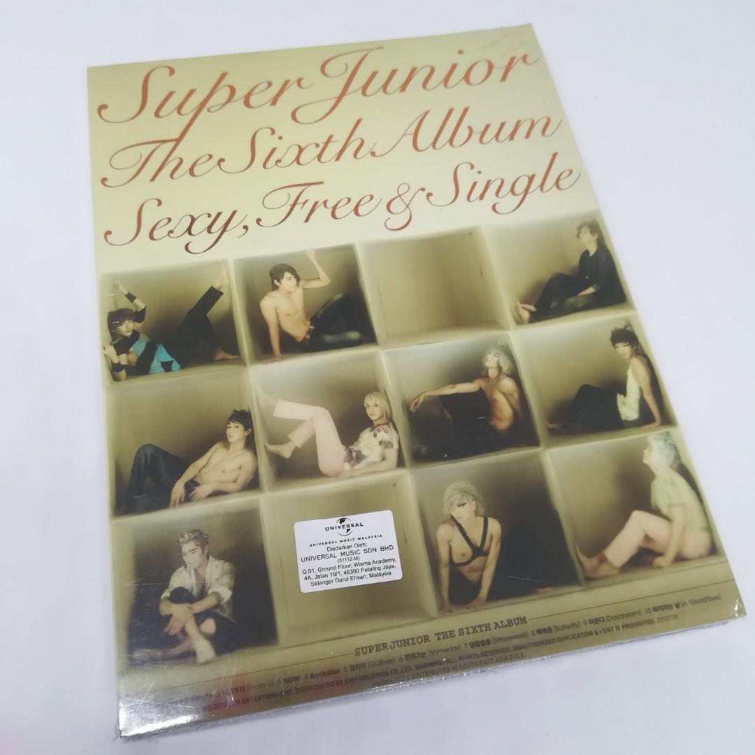 CD Super Junior Sexy Free and Single the 6th Album