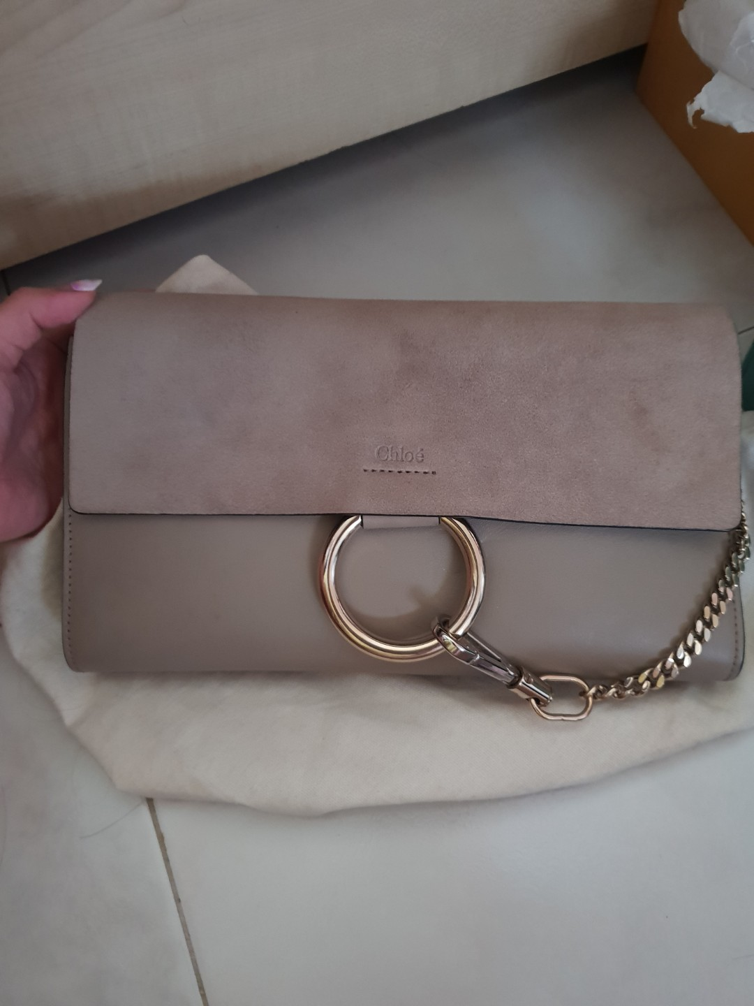 2da73b715af3e Chloe faye clutch in motty grey