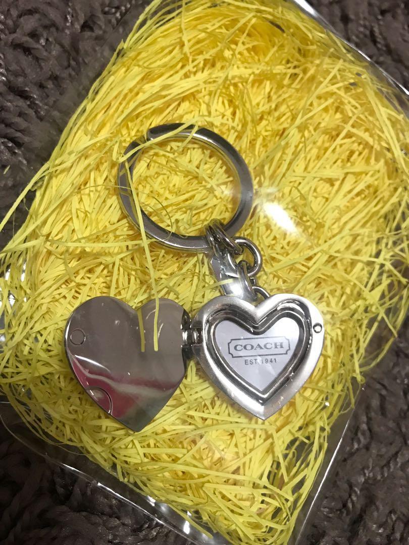 Coach love key chain with photo frame