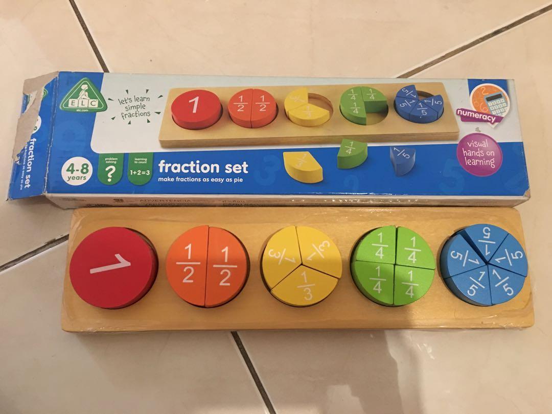ELC Toy Fraction Set